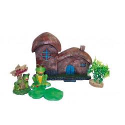 Dekorácia domček s rastlinami - set