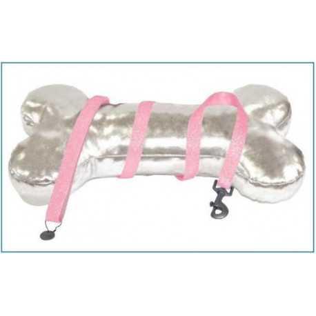 Kožené vodítko ružové trblietavé 1x120cm