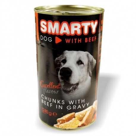 Smarty konzerva pre psa hovädzia 1240g
