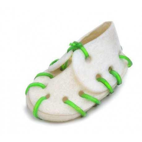 Topánka byvolia s vápnikom s farebným prešitím 7cm