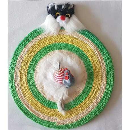 Škrábadlo Mačka kruh 30x1,5cm