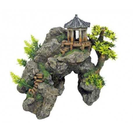 Japonský hrad na skale 24x20x23cm