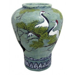 Váza s labuťami 11x11x14,5cm