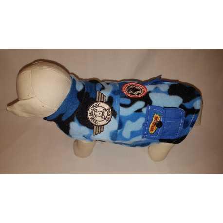 Flanelová vesta modrá