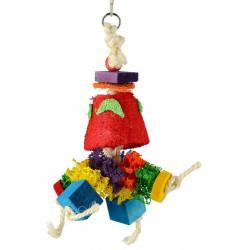 Lanová hračka pre papagáje 28x12cm