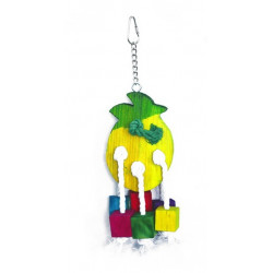Drevená hračka pre papagáje 35x11cm