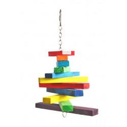 Drevená hračka pre papagáje 28x15cm