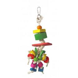 Lanová hračka pre papagáje 25x7cm