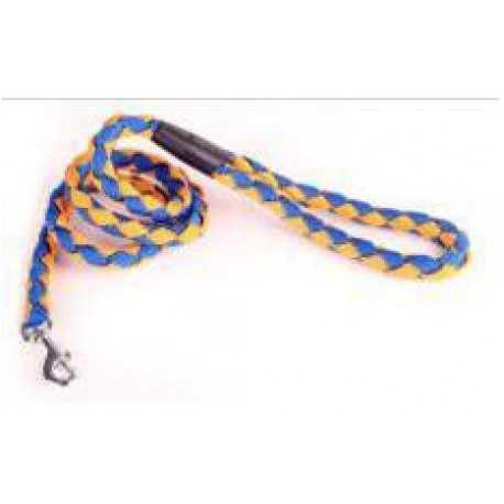 Vodítko nylonové prepletané modro-žlté