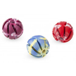 Lopta parfémovaná z tvrdej gumy dierovaná 7cm