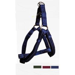 Postroj nylonový reflexný tmavo-modrý