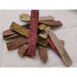 Plátky z drvenej byvolej kože farebná 12,5 x2,3cm