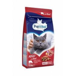 PreVital mačka hovädzie granule 1,4 kg