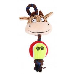 Lanová krava s loptičkou 24cm
